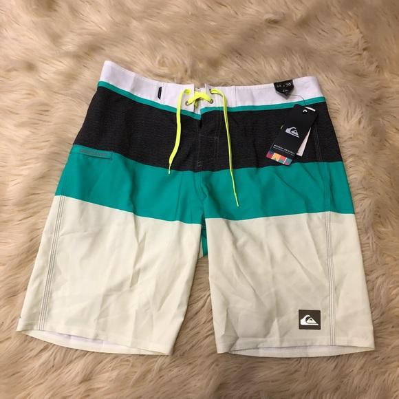 1e92112c29 Quiksilver Swim | Color Block Trunk Board Shorts | Poshmark